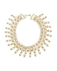Tory Burch - Metallic Candelaria Goldplated Resin Necklace - Lyst