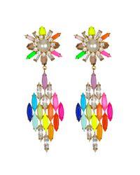 Shourouk   Green Cobra Rainbow Earrings   Lyst