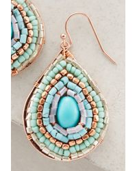 Anthropologie | Blue Verdant Maze Drops | Lyst