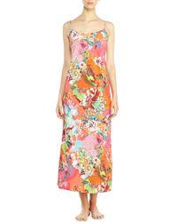 Natori - Multicolor Haru Floral Print Nightgown - Lyst