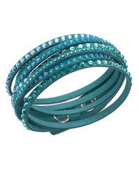 Swarovski | Blue Slake Deluxe Crystal Stud Wrap Bracelet | Lyst