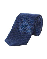 HUGO | Blue Patterned Tie for Men | Lyst