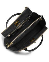 Michael Kors - Black Miranda Large Satchel Bag - Lyst