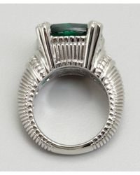 Judith Ripka - Green Quartz and Silver Large Fontaine Ring - Lyst