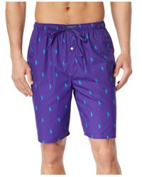 Polo Ralph Lauren | Purple Drawstring Pony-print Pajama Shorts for Men | Lyst