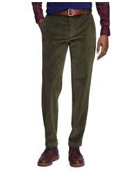 Brooks Brothers | Green Milano Fit 8-wale Corduroys for Men | Lyst