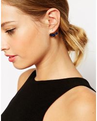 ASOS | Blue Jewel Swing Earrings | Lyst