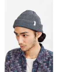 Coal - Gray The Frena Solid Beanie for Men - Lyst
