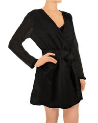 Flora Nikrooz | Black Sheer Mesh Robe | Lyst