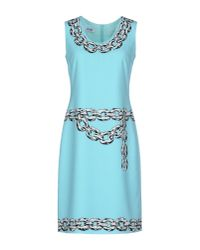 Boutique Moschino - Blue Short Dress - Lyst