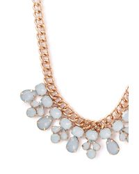 Forever 21 | Blue Faux Stone Bib Necklace | Lyst