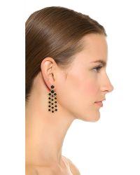 kate spade new york - Metallic Subtle Sparkle Chandelier Earrings - Jet - Lyst