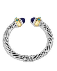 David Yurman | Metallic Renaissance Bracelet With Lapis Lazuli, Turquoise & Gold | Lyst