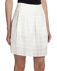 VINCE | White Pleated Skirt | Lyst