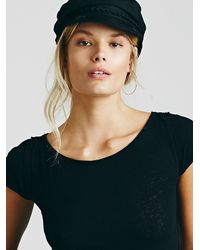 Free People - Black We The Free Baby Washed Tee - Lyst