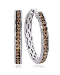 Le Vian - Brown Chocolate Diamond Hoop Earrings (5/8 Ct. T.w.) In 14k White Gold - Lyst