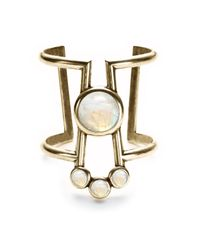 Pamela Love | Metallic Comet Cuff With Moonstone | Lyst