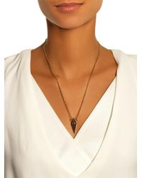 Eddie Borgo | Metallic Pavé Urn Pendant Necklace | Lyst