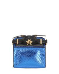Giancarlo Petriglia | Black Mini Clary Metallic Elaphe Shoulder Bag | Lyst