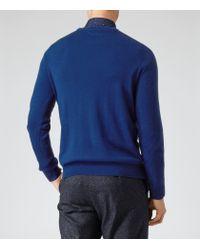 Reiss - Blue Onyx Merino Wool Jumper for Men - Lyst