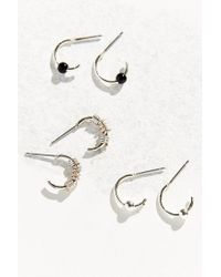 Urban Outfitters - Metallic Rock Show Hoop Earring Set - Lyst
