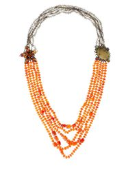 Iradj Moini | Orange Carnelian Yellow Quartz Necklace | Lyst