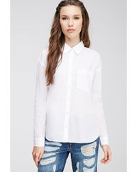 Forever 21 - White Boxy Button-down Shirt - Lyst