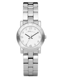 Marc By Marc Jacobs | Gray Women's Mini Amy Stainless Steel Bracelet 26mm Mbm3055 | Lyst