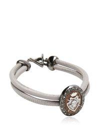 Amedeo - Gray Sardonyx Shield Cameo Bracelet for Men - Lyst