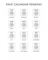 BaubleBar | Metallic Diamond Calendar Pendant | Lyst