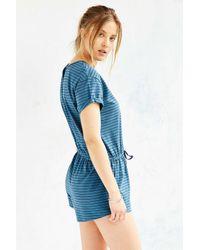BDG   Blue Melinda Knit Drawstring Romper   Lyst
