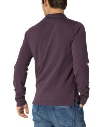 Tommy Hilfiger - Purple Long Sleeve Polo Top for Men - Lyst