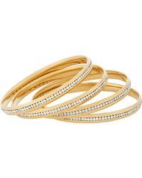 Fallon - Metallic Infinity Channel Bangles - Lyst