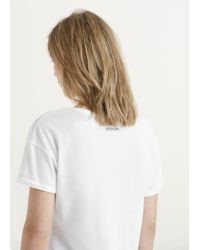 Violeta by Mango | White Essential Cotton T-shirt | Lyst