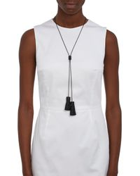 Wendy Nichol - Black Leather Bolero Necklace - Lyst
