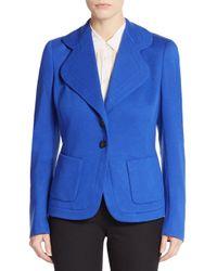 ESCADA - Blue Cashmere & Wool Jacket - Lyst
