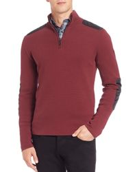 Victorinox | Red Lieutenant Quarter-zip Pullover Sweater for Men | Lyst