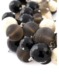 Brunello Cucinelli - Black Beaded Necklace - Lyst