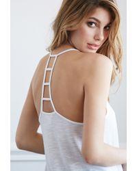 Forever 21 - White Ladder-back Slub Knit Tank - Lyst