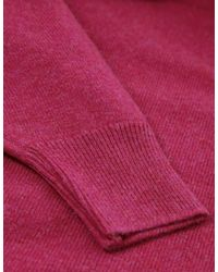 Jules B - Pink V-neck Lambswool Sweater for Men - Lyst