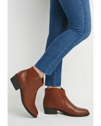 Forever 21 - Natural Classic Heeled Booties - Lyst