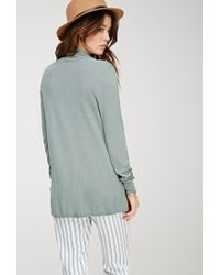 Forever 21 - Blue Contemporary Classic Knit Cardigan - Lyst