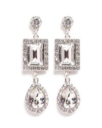 Philippe Audibert - Metallic Elea Crystal Drop Earrings - Lyst