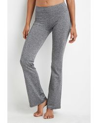 Forever 21 | Gray Flared Heathered Yoga Pants | Lyst