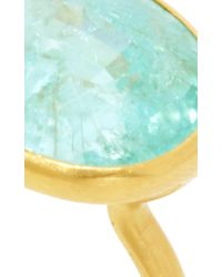 Marie-hélène De Taillac - Metallic 22K Yellow Gold And Paraiba Princess Ring - Lyst