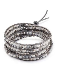 Chan Luu | Gray Five Wrap Beaded Bracelet | Lyst