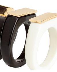 H&M | White 3-pack Rings | Lyst