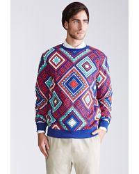 Forever 21   Blue Print Sweatshirt for Men   Lyst