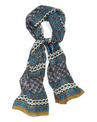 Vince Camuto - Blue Paisley Print Silk Scarf - Lyst