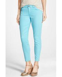 CJ by Cookie Johnson - Blue 'wisdom' Colored Stretch Ankle Skinny Jeans - Lyst